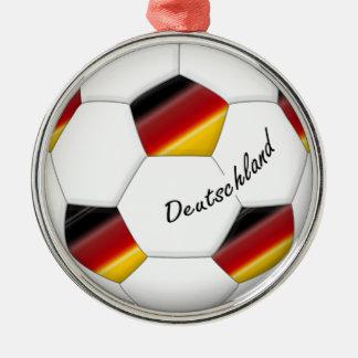 Balón de FÚTBOL ALEMANIA equipo nacional 2014 Adorno Redondo Plateado