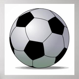 Balón de fútbol americano del fútbol de asociación póster