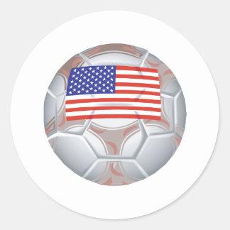 Balón de fútbol americano etiqueta redonda