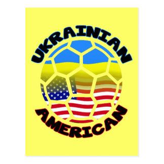 Balón de fútbol americano ucraniano postal