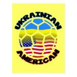 Balón de fútbol americano ucraniano tarjetas postales
