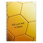 Balón de fútbol anaranjado de Personalizable Libros De Apuntes