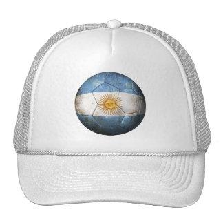 Balón de fútbol argentino gastado de fútbol de ban gorra