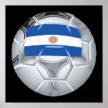 Balón de fútbol argentino impresiones