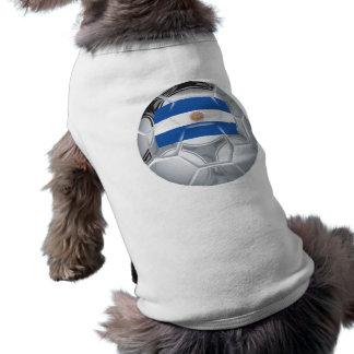 Balón de fútbol argentino playera sin mangas para perro