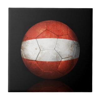 Balón de fútbol austríaco gastado de fútbol de ban teja  ceramica