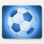 Balón de fútbol azul de Colorfull (fútbol) Alfombrillas De Raton