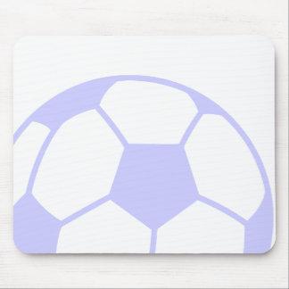 Balón de fútbol azul de la lavanda tapete de ratones