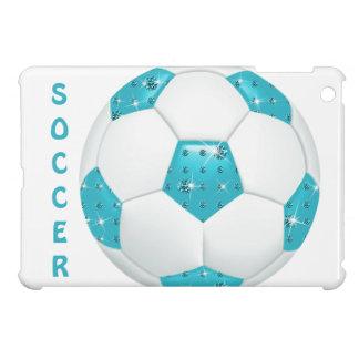 Balón de fútbol azul de las piedras preciosas
