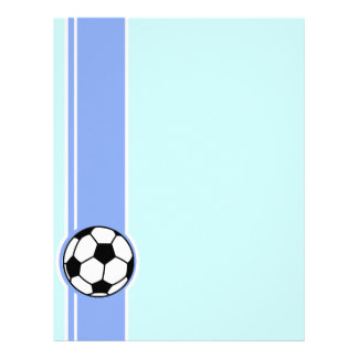 Balón de fútbol; Azul Plantillas De Membrete