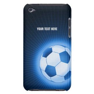 Balón de fútbol azul personalizado (fútbol) barely there iPod carcasas