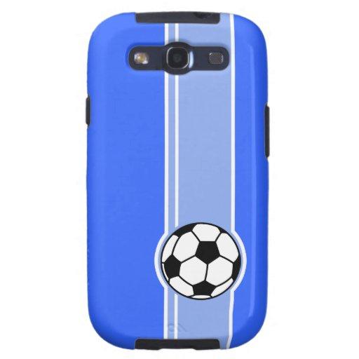 Balón de fútbol; Azul Samsung Galaxy S3 Funda