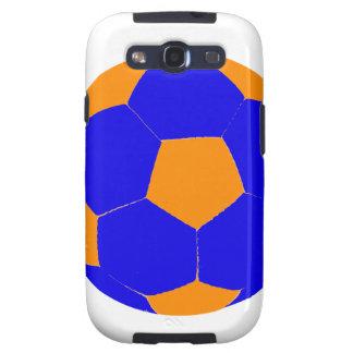 Balón de fútbol azul y anaranjado samsung galaxy s3 carcasas