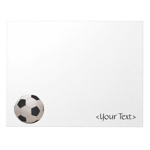 Balón de fútbol blanco y negro blocs de notas