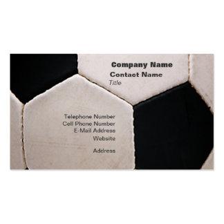Balón de fútbol blanco y negro plantillas de tarjeta de negocio