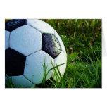 Balón de fútbol - bola del fútbol tarjeta de felicitación