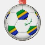 Balón de FÚTBOL BRASIL equipo campeón del mundo Adorno De Reyes