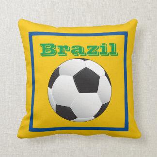 Balón de fútbol brasileño, equipo, fútbol del cojín