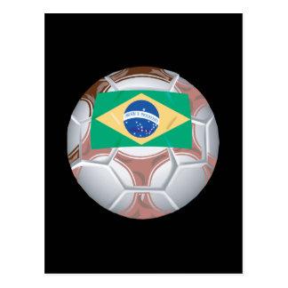 Balón de fútbol brasileño tarjetas postales