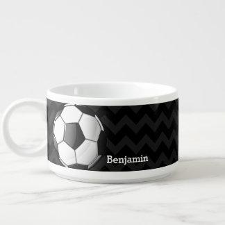 Balón de fútbol brillante tazón