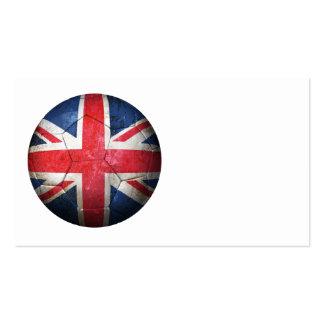 Balón de fútbol británico gastado de fútbol de ban tarjetas de visita