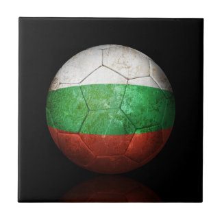 Balón de fútbol búlgaro gastado de fútbol de bande azulejo