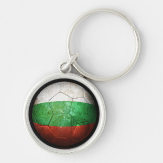 Balón de fútbol búlgaro gastado de fútbol de bande llavero