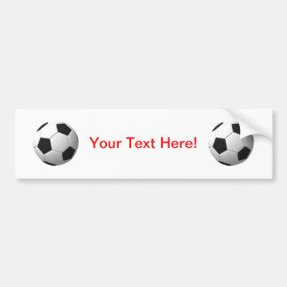 Balón de fútbol: etiqueta de parachoque
