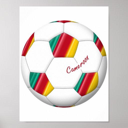 Balón de FÚTBOL CAMERÚN del equipo nacional 2014 Impresiones