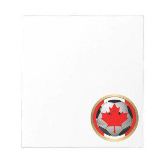 Balón de fútbol canadiense bloc de notas
