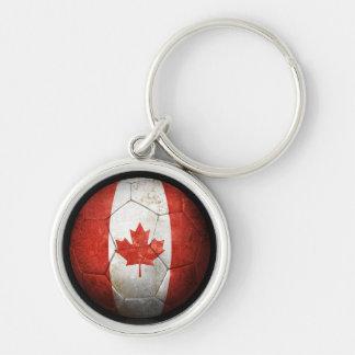 Balón de fútbol canadiense gastado de fútbol de ba llavero personalizado