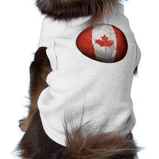 Balón de fútbol canadiense gastado de fútbol de ba ropa de mascota