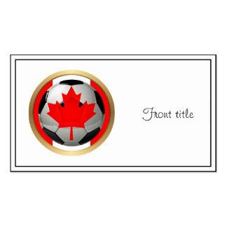Balón de fútbol canadiense tarjetas de visita