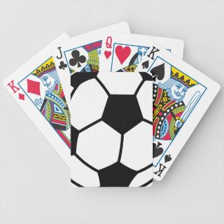 Balón de fútbol cartas de juego