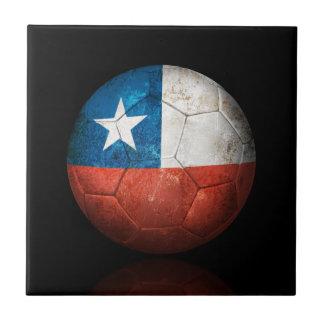 Balón de fútbol chileno gastado de fútbol de bande azulejos