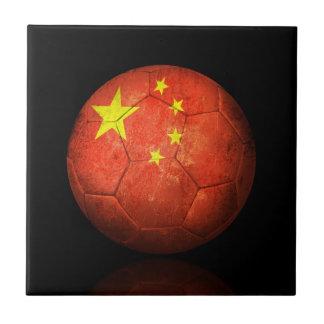 Balón de fútbol chino gastado de fútbol de bandera azulejos cerámicos