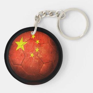Balón de fútbol chino gastado de fútbol de bandera llavero