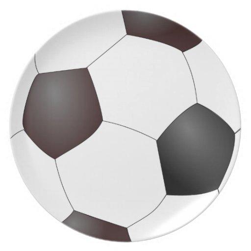 Balón de fútbol clásico platos