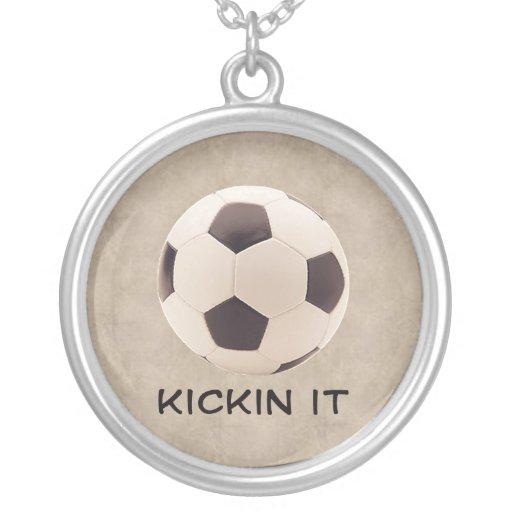 Balón de fútbol colgante redondo