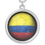 Balón de fútbol colombiano gastado de fútbol de ba collar personalizado
