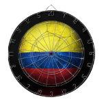 Balón de fútbol colombiano gastado de fútbol de ba tablero de dardos