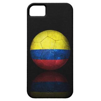 Balón de fútbol colombiano gastado de fútbol de ba iPhone 5 protectores