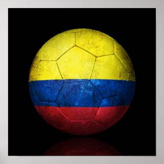Balón de fútbol colombiano gastado de fútbol de ba impresiones