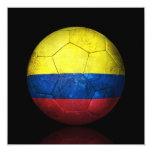 """Balón de fútbol colombiano gastado de fútbol de invitación 5.25"""" x 5.25"""""""