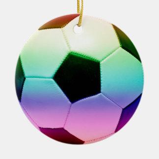Balón de fútbol colorido fútbol ornatos