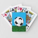 Balón de fútbol con el corazón customizeable barajas de cartas