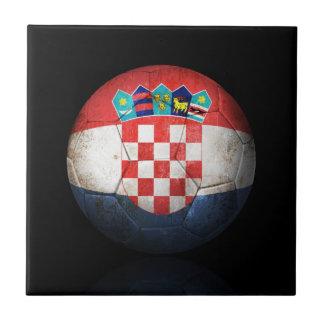Balón de fútbol croata gastado de fútbol de bander teja cerámica