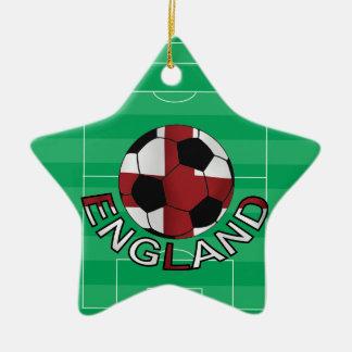 Balón de fútbol cruzado del st Jorte de Inglaterra Adorno Navideño De Cerámica En Forma De Estrella