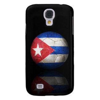 Balón de fútbol cubano gastado de fútbol de bander