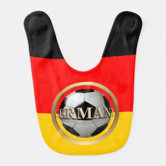 Balón de fútbol de Alemania Baberos Para Bebé